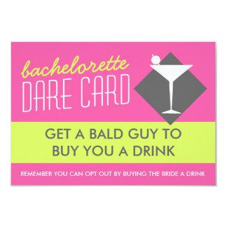 Modern Retro Bachelorette DARE game card