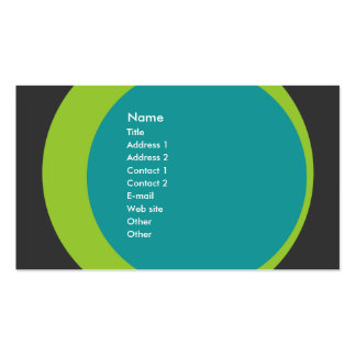 Modern Retro Business/Networking Profile Card Business Card Template