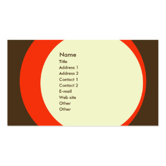 Modern Retro Business/Networking Profile Card Double-Sided Standard Business Cards (Pack Of 100)