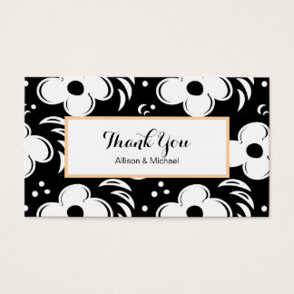 Modern Retro Chic 1960s Thank You Notes Business Card