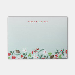 Modern Retro Chic Pattern Holidays Personalized Post-it Notes