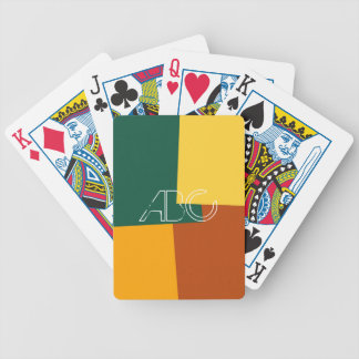 Modern Retro Color Geometric Pattern #10 Bicycle Playing Cards