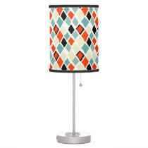 modern retro colorful diamonds geometric pattern desk lamp
