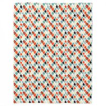 modern retro colorful diamonds geometric pattern fleece blanket