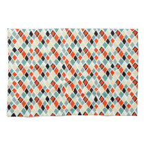 modern retro colorful diamonds geometric pattern kitchen towel