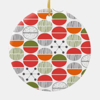 Modern Retro Geometric Polka Dots Ceramic Ornament