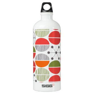 Modern Retro Geometric Polka Dots Water Bottle