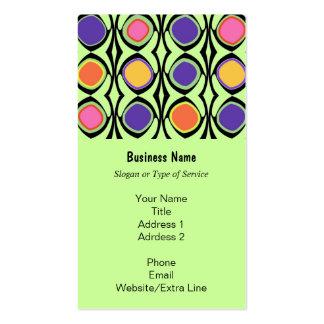 Modern Retro Lattice and Circle Art Custom Color Business Card