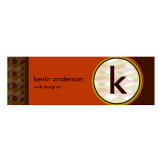 Modern Retro MiniCard Double-Sided Mini Business Cards (Pack Of 20)