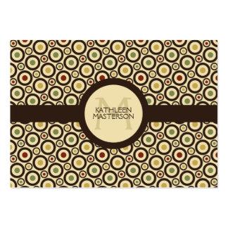 Modern Retro Polka Dot Customized Calling Card /