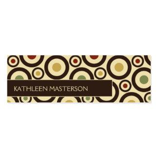 Modern Retro Polka Dot Customized Profile Card /