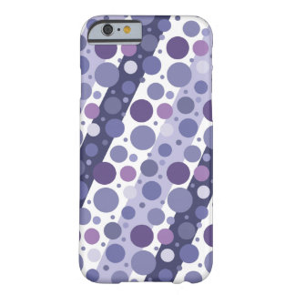Modern Retro Purple Polka Dot Fun Barely There iPhone 6 Case