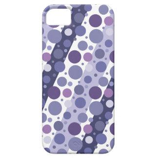 Modern Retro Purple Polka Dot Fun iPhone SE/5/5s Case