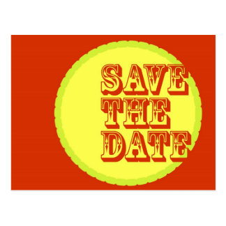 Modern-Retro Save The Date Post Card