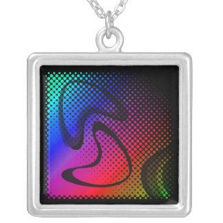 Modern Retro Square Pendant Necklace