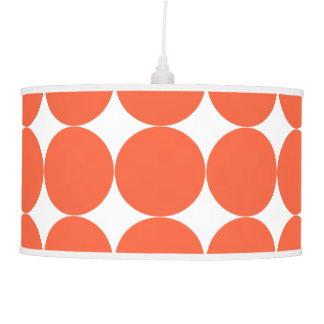 Modern Retro Vibe Orange Polka Dots Hanging Lamp