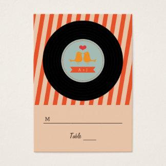 Modern Retro Vinyl Record Love Birds Escort Tags