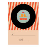 Modern Retro Vinyl Record Love Birds Escort Tags Large Business Cards (Pack Of 100)