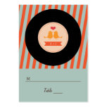 Modern Retro Vinyl Record Love Birds Escort Tags Large Business Card