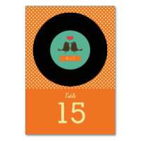 Modern Retro Vinyl Record Wedding