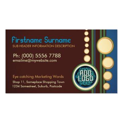 Modern Retro w/ Logo or Photo Business Per Business Cards