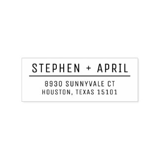 Modern Return Address Stamp