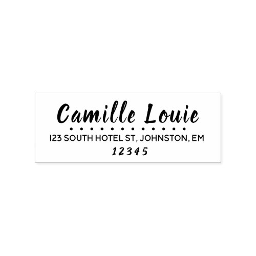 Modern Return Address Stamp Calligraphy Name