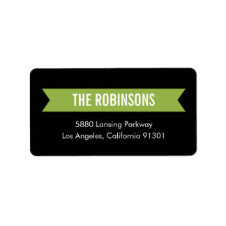 Modern Ribbon Address Label