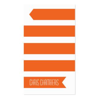 Modern Ribbon Business Card (Orange)