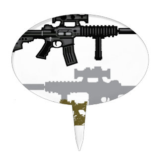 Modern Rifle Cake Topper