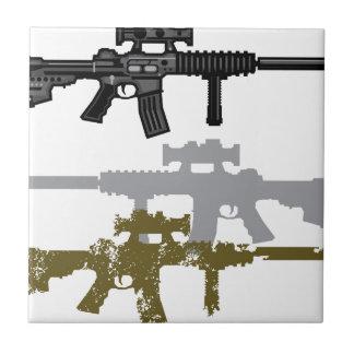 Modern Rifle Ceramic Tile