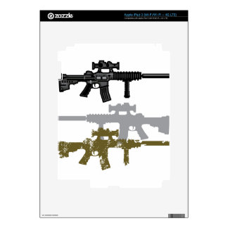 Modern Rifle Decals For iPad 3