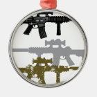 Modern Rifle Metal Ornament