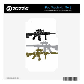 Modern Rifle Skins For iPod Touch 4G