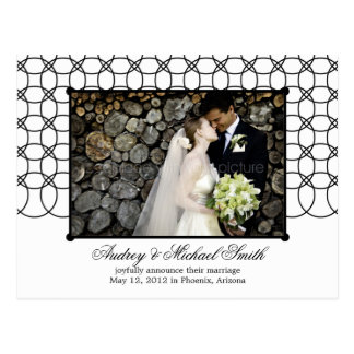 Modern Rings Wedding Announcement/Save The Date Postcard
