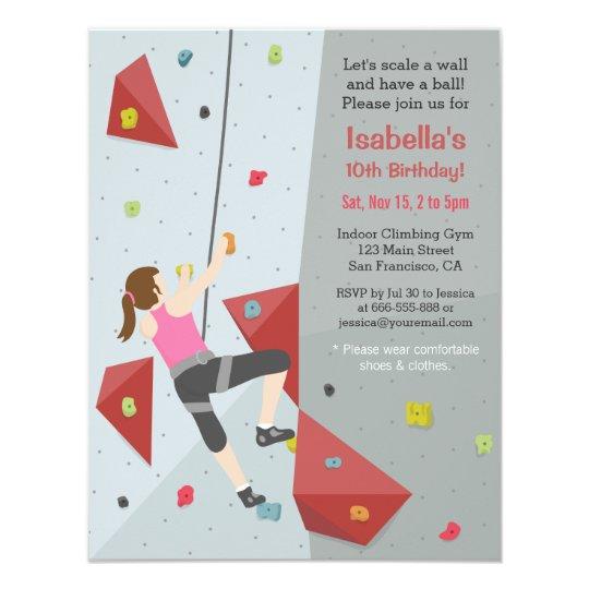 Modern rock climbing birthday party invitations zazzle modern rock climbing birthday party invitations filmwisefo