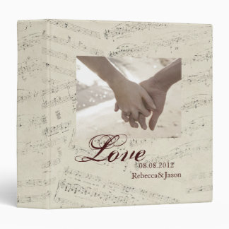 Modern Romantic Music notes Music Wedding Binder