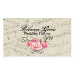 Modern Romantic Music notes Music Wedding Business Card