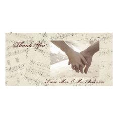 Modern Romantic Music Notes Music Wedding Card at Zazzle