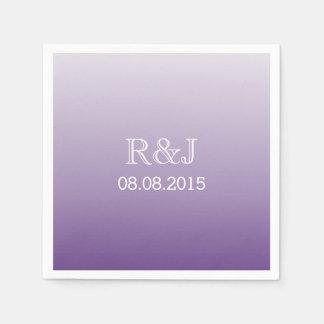 modern romantic summer lilac ombre purple wedding napkin