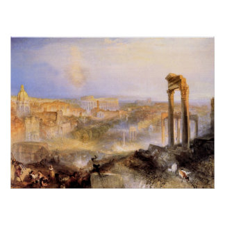 Modern Rome, Camp Vaccino - Joseph Mallord Turner Poster