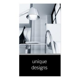 modern room interior decorator business card