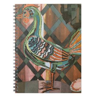 Modern Rooster Spiral Notebook