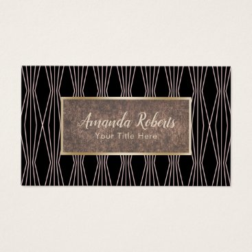 Lawyer Themed Modern Rose Gold Abstract Diamond Pattern Business Card