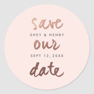 gold foil save the date stickers zazzle