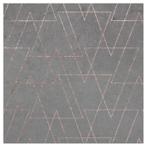 Modern rose gold geometric triangles blush pink ab fabric