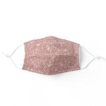 Modern Rose Gold Glitter Adult Cloth Face Mask