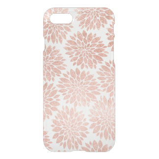 Modern rose gold glitter floral abstract geometric iPhone 8/7 case