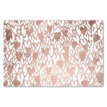 Modern rose gold hearts illustration pattern tissue paper