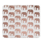 Modern rose gold wild elephants pattern cutting board